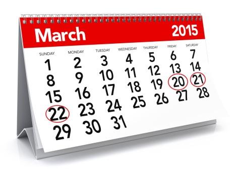 evenimente martie