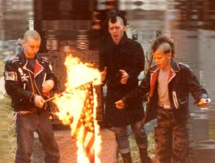 Punks_burning_a_flag